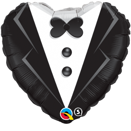 Wedding Day Tuxedo Foil Helium Balloon